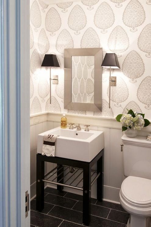 South Shore Decorating Blog: Jewel Boxes: 30 Glitzy and Glamorous Powder Rooms. This is classic.