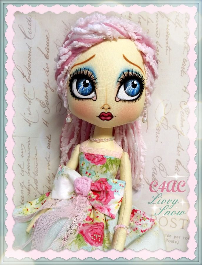 SAGE for Collaborate For A Cause  Livvy Snow Cloth Doll www.facebook.com/1LivvySnow