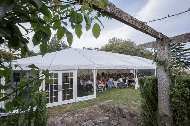 10x25m Clipframe with Fibretech Doors with Ruth Pretty Catering @ GreenHill Lodge, Hawkes Bay