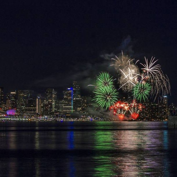 Canada Day Fireworks, Vancouver Harbour