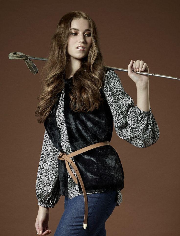 Black Saki Vest from Millicent Design