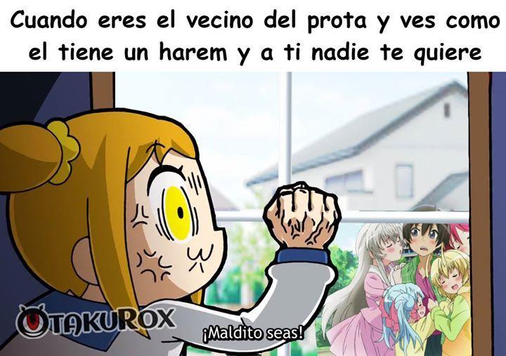 Y encima el prota es princeso >:'v  Kurox . anime meme en español