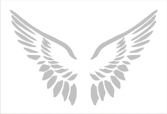 Stencil ANGEL WINGS LARGE 10 Tall x 15.5 Wide by SuperiorStencils, $16.50