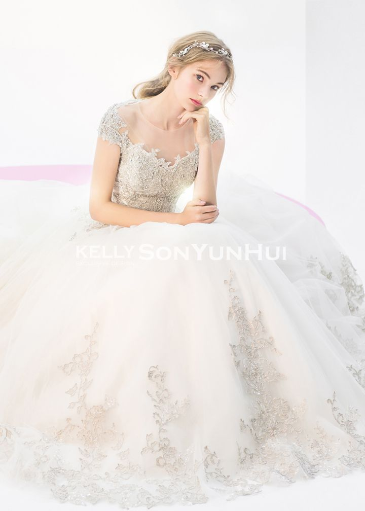 Kelly Sonyunhui 01-001 | Brautkleid | Brautkleid | Pinterest