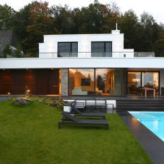 Moderne architektenhäuser mit pool  140 best Hausbau images on Pinterest | Fire places, Architecture ...