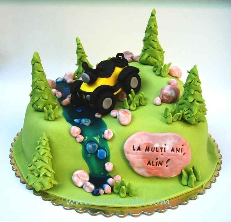 11 Best Atv Cakes Images On Pinterest Beautiful Cakes Bicycles