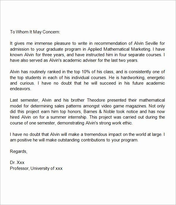 Letter Of Recommendation Masters Program from i.pinimg.com
