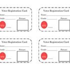 The file contains a page with 4 voter registration cards for your students to fill out during their study of election day.  Students will add their...