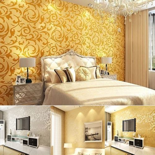 10M Luxury Vintage Wall Paper Wallpaper Roll Damask Embossed Textured Home Decor