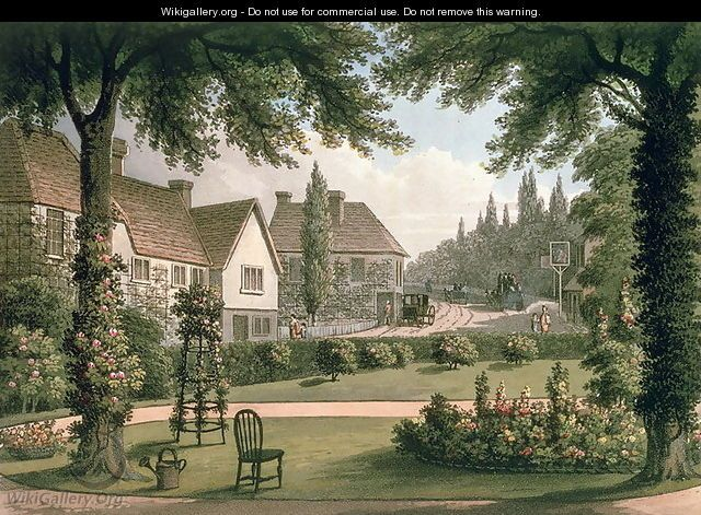 Sir Humphrey Repton: View from My Own Cottage in Essex After from Fragments on the Theory and Practice of Landscape Gardening, pub. 1816