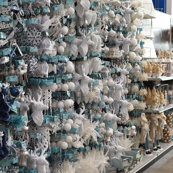 At Home's ornament selection is amazing - over 650 styles of unique ornaments merchandised by 15 exclusive At Home themes.