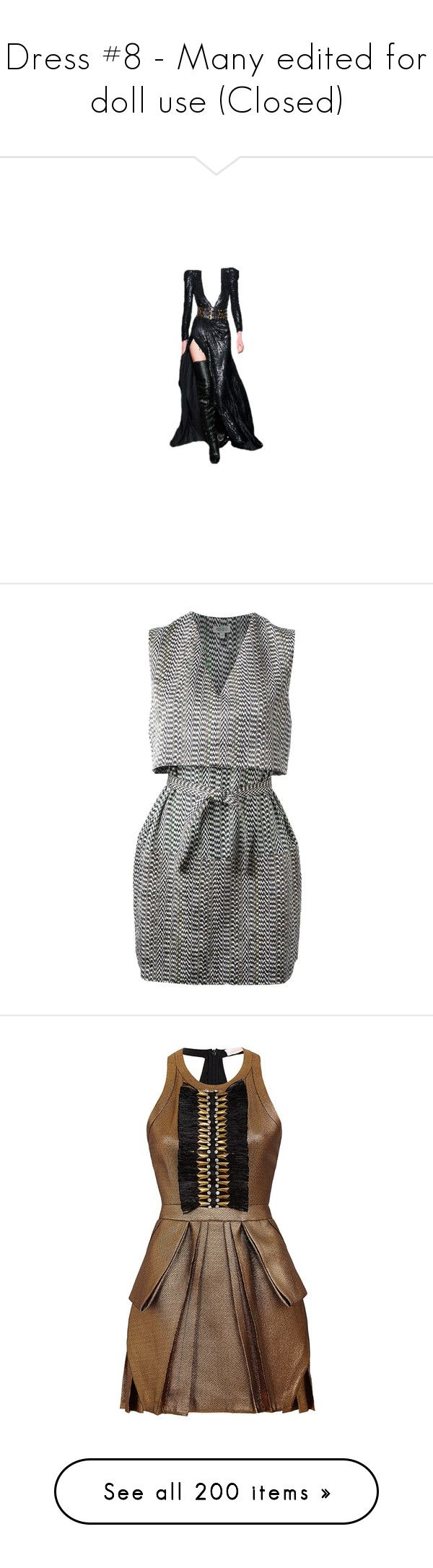 """""""Dress #8 - Many edited for doll use (Closed)"""" by mimi1207 ❤ liked on Polyvore featuring dolls, dresses, doll parts, gowns, body parts, vestidos, kenzo, white day dress, loose fitting dresses and white loose dress"""