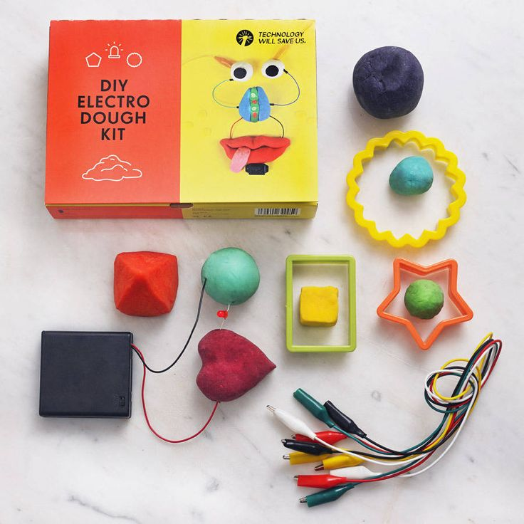 Create shapes, make your favourite animals, construct cities using electronic play dough that you make yourself!Good for beginners, ages four and up (with supervision). Make: Use our Electrodough recipe book to make your own conductive and non conductive dough using everyday household items. Then start to understand how circuits work whilst making fun and interesting creations. Play: Create your own sculptures and scenes using your homemade dough. Then bring them to life with LED eyes, ...