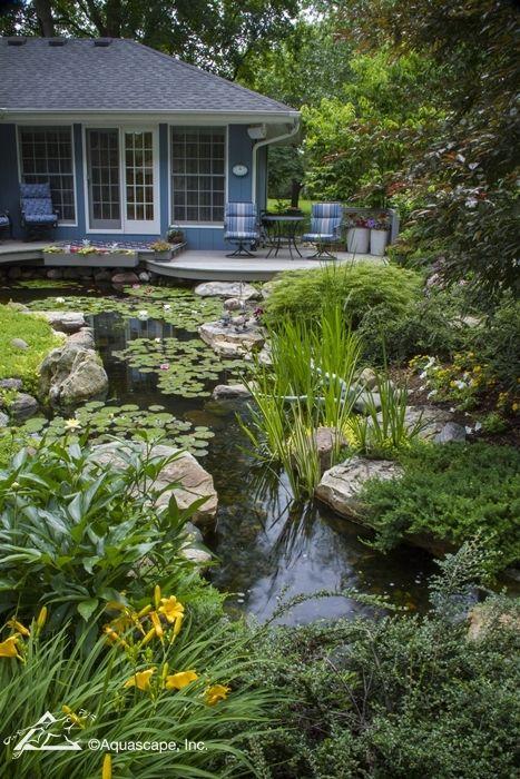 Beautiful Backyard with Pond