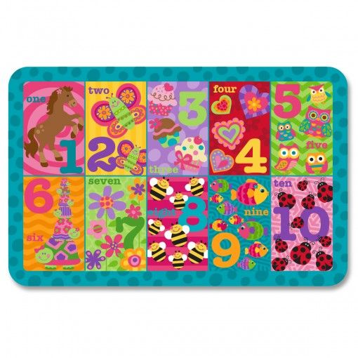 123 Girl Placemat Possum Pie Stephen Joseph Arts and Crafts, Gifts and Toys, Bags and Backpacks