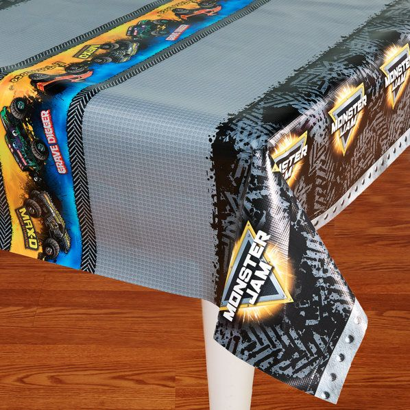 Check out Monster Jam Tablecover from Wholesale Party Supplies