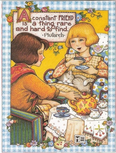 A Constant Friend Is RARE Hard to Find Magnet with Mary Engelbreit Artwork