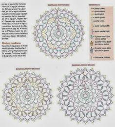 Patrones Crochet: Enlazando con Diagrama Circulos de Crochet