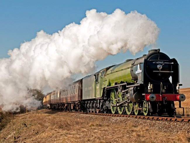 all-new A1 Peppercorn steam locomotive on the rails of Britain.