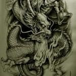 Oriental Dragon Tattoo Style (31)