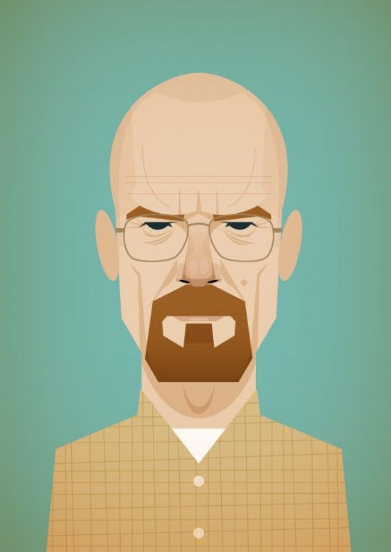 Breaking BadHeisenberg, Stanleychow, Bryans Cranston, Breakingbad, Fans Art, Stanley Chow, Breaking Bad, Art Illustration, Walter White