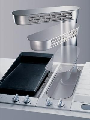 Downdraft #Ventilation from #Gaggenau. See more at www.purcellmurray.com #PurcellMurray