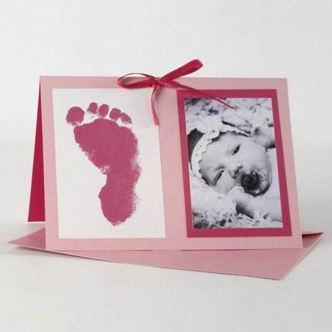 Rosa og pink indbydelse til barnedåb
