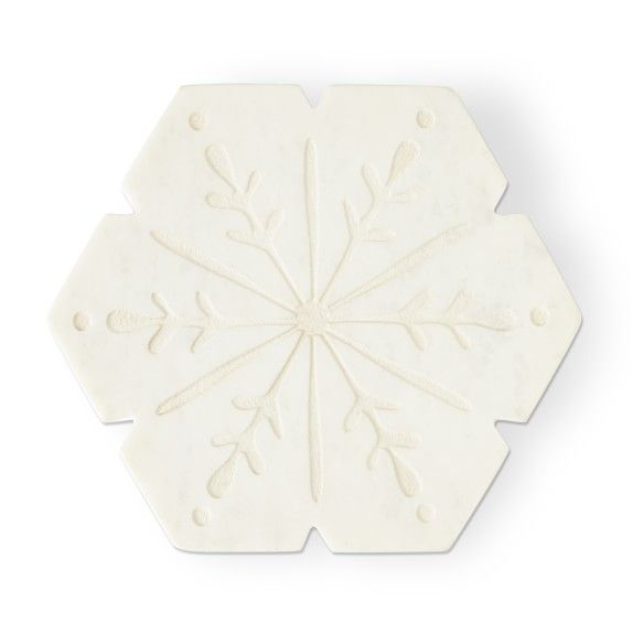 Marble Snowflake Trivet With Images Snowflakes Snowflake Shape Winter Table