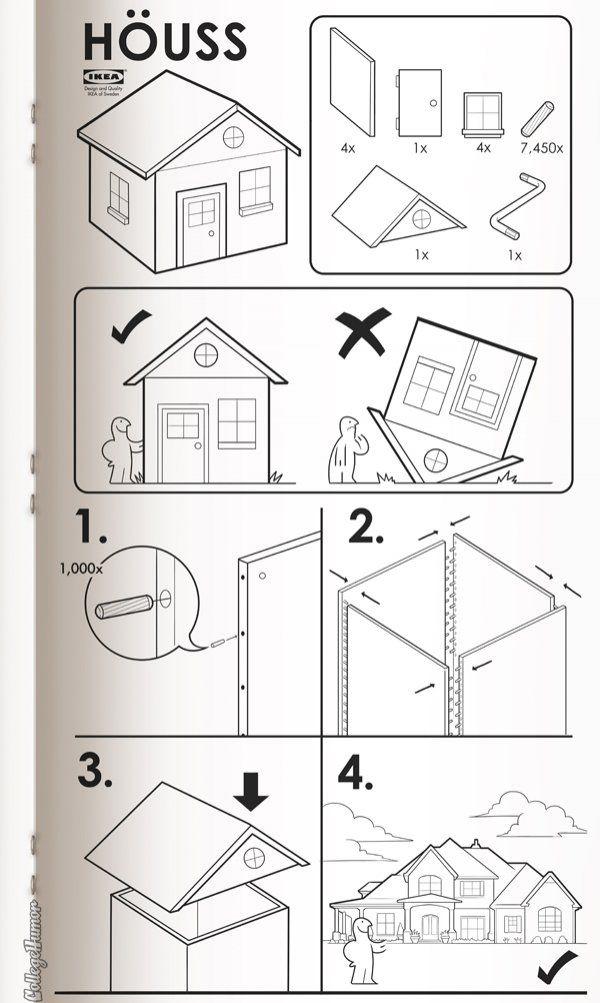Anleitung für´s Kindermachen und Hausbauen von Ikea
