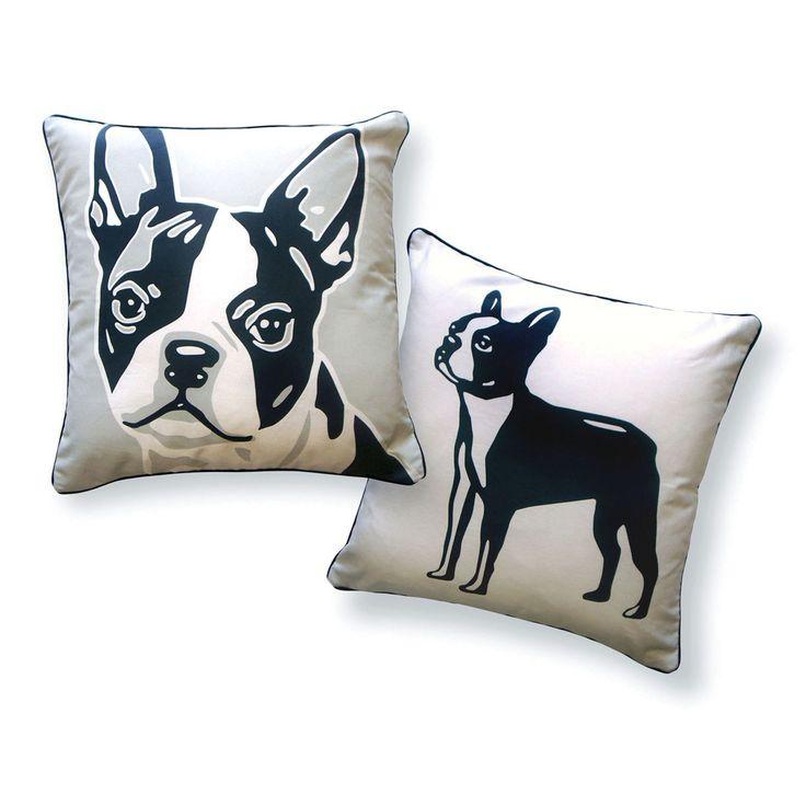 Boston Terrier Pillow.it looks like sues dog mickey!