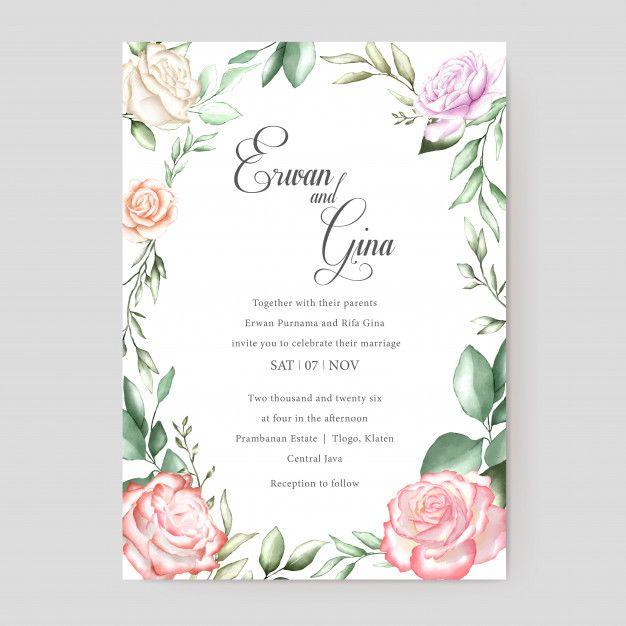 Watercolor Wedding Invitation Card Wedding Invitation Cards Watercolor Wedding Invitations Pastel Wedding Stationery
