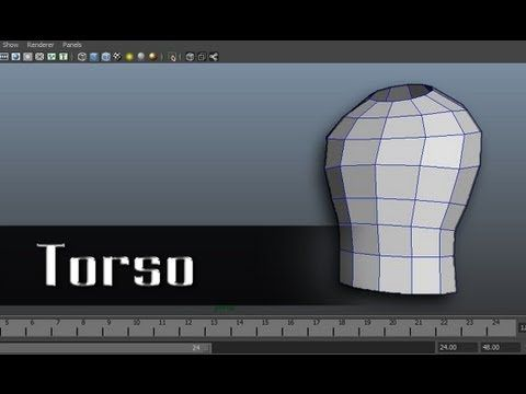 Modeling a Character in Maya - part 3 of 10