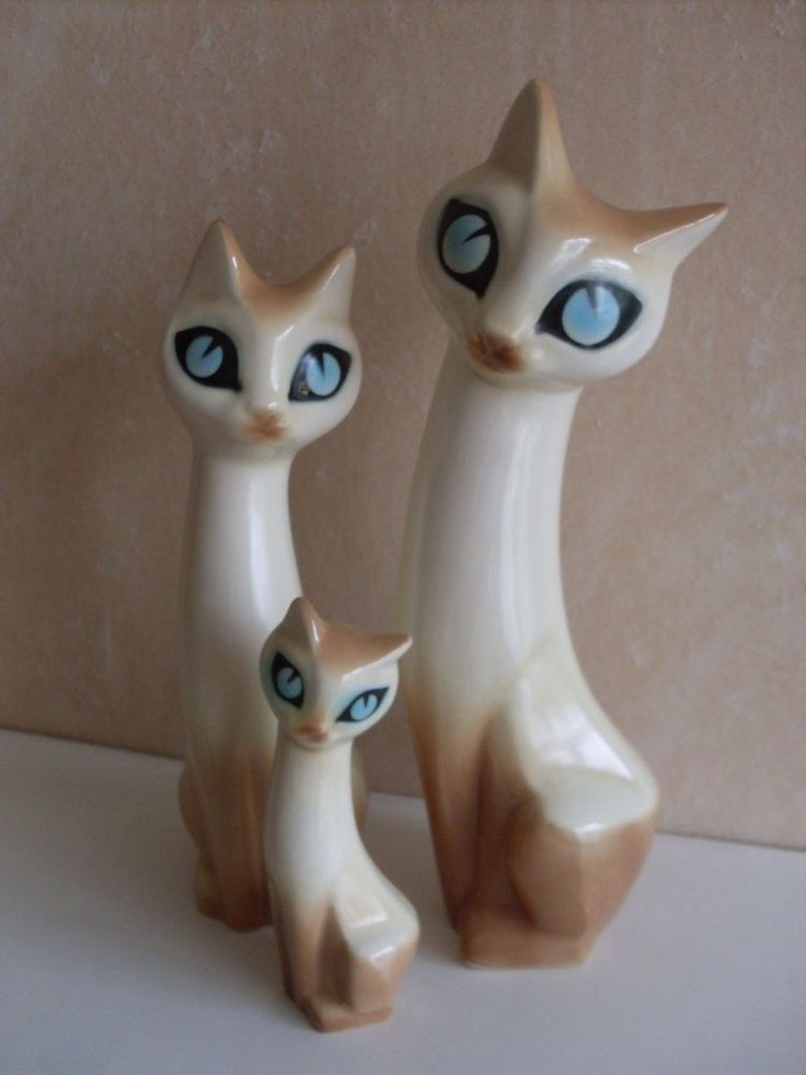 HORNSEA POTTERY STYLISED SIAMESE CAT MARION CAMPBELL 4.5ins/11cm VGC