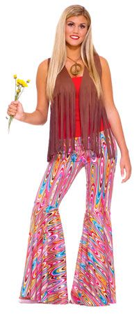 Bell Bottom Pants Hippie Costume - Hippie Costumes - $19