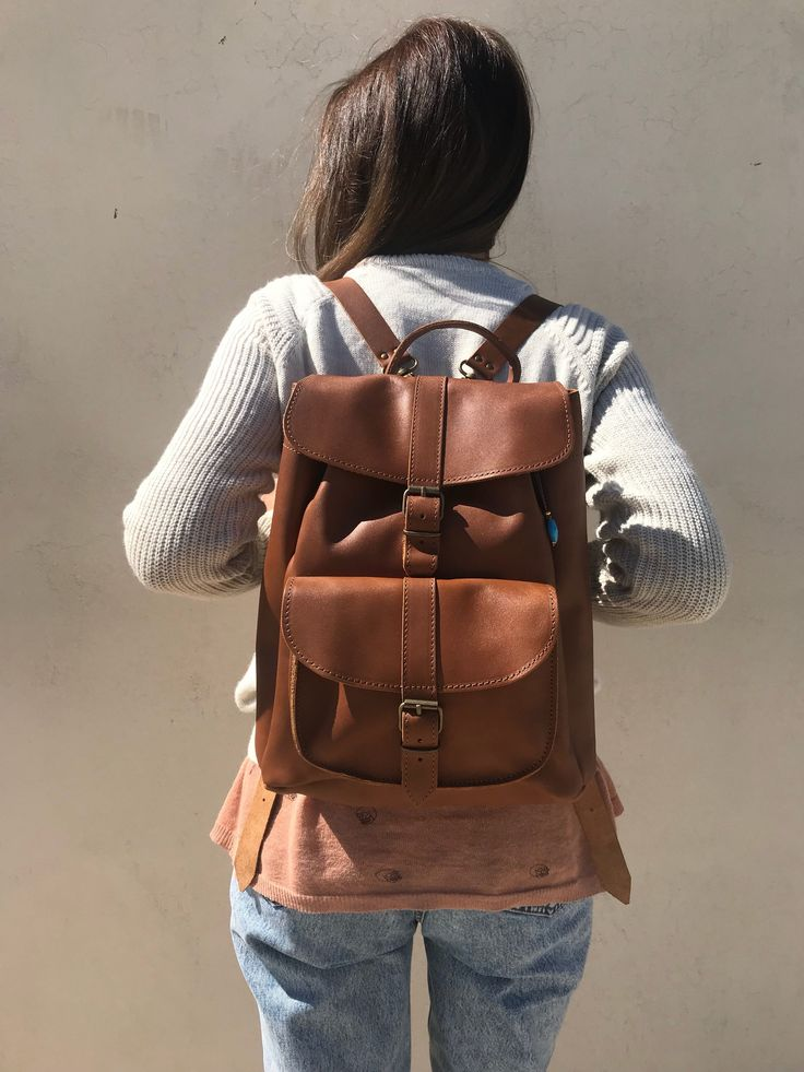 Excited to share the latest addition to my #etsy shop: Leather Backpack, Women's Backpack, Leather Rucksack Women, Office Bag, Travel Bag, Made in Greece from Full Grain Leather, LARGE. http://etsy.me/2DzxxZT #bagsandpurses #backpack #brown #leatherbackpack #womensback