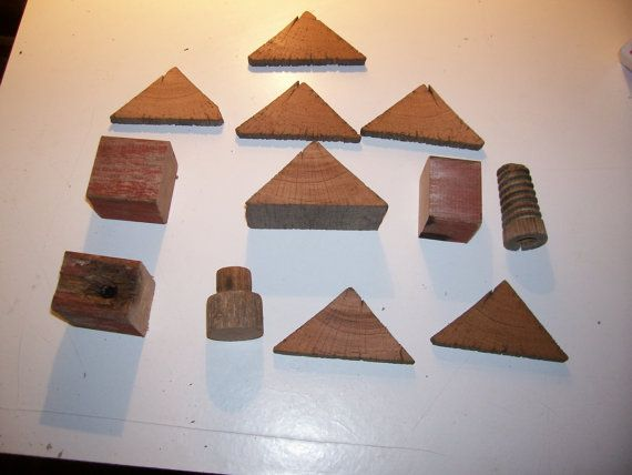 Wood Shapes  odd shapes roof shapes block by RustyandWoodSupplies, $5.00