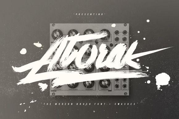 Atorak Typeface + Swashes by Maulana Creative on Creative Market