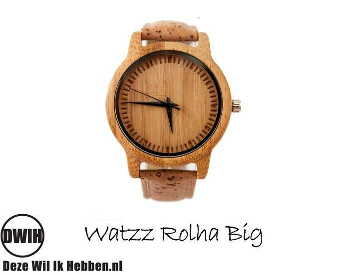 Houten horloge: WATZZ Rolha Big (WATZZ 07) | Gratis verzenden - Deze…