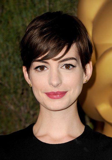 Anne Hathaway at the Oscar Nominees Luncheon. See all the looks!
