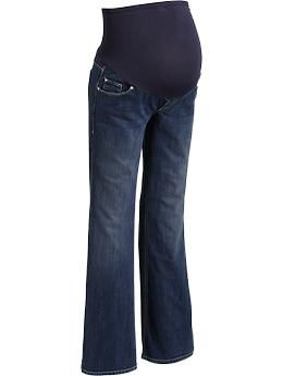 Maternity Full-Panel Flare-Leg Jeans from Old Navy. Maternity jeans are awesome :-) Why don't we wear them all the time?