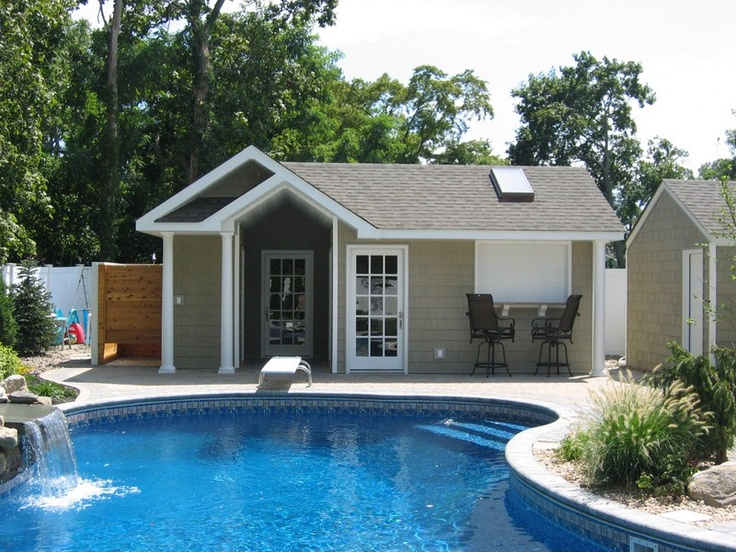 17 best images about pool ideas on pinterest pool houses for Shed into pool house