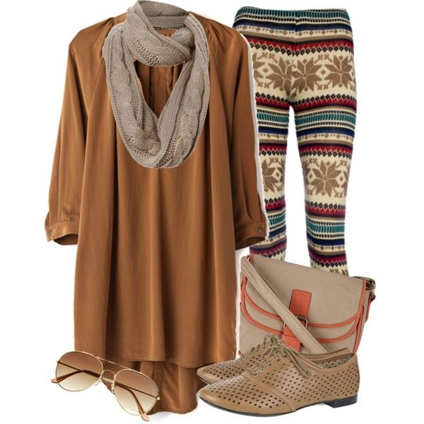Styled with Winter Print Tights.