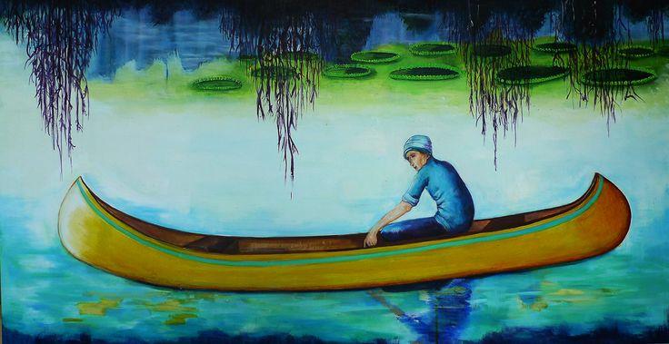 """Canoe"" Acrylics on Linen"