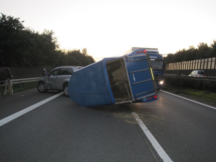 Verkehrsunfall mit umgekipptem Pferdeanhänger und einer verletzten Person auf der A33 - /Meldung/neuigkeiten/Nachrichten Top24News