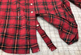 How to cut up old shirts to make a quilt out of it.  I'm making a blanket from my dad's shirts.