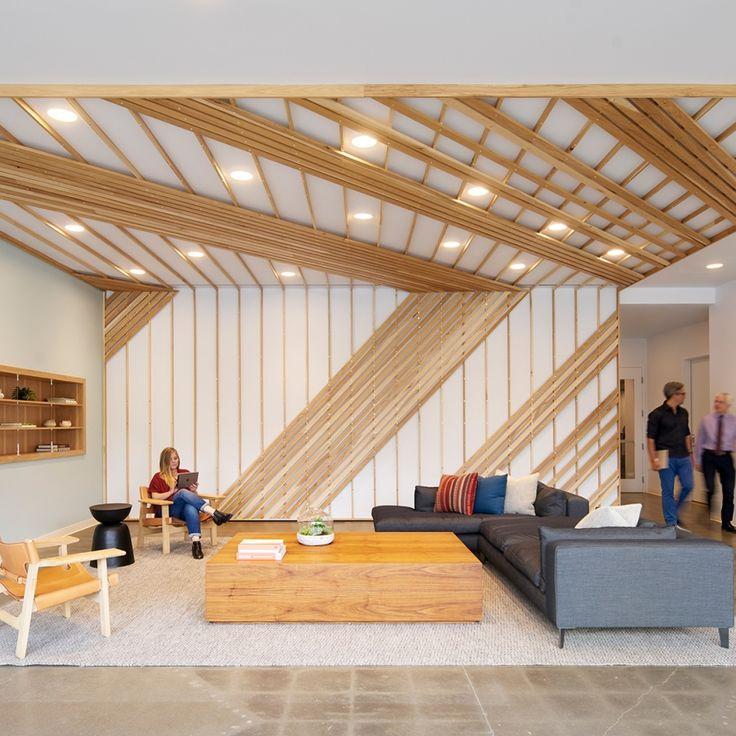 Studio O+A · Modern CeilingWall FinishesInterior OfficeWork ...