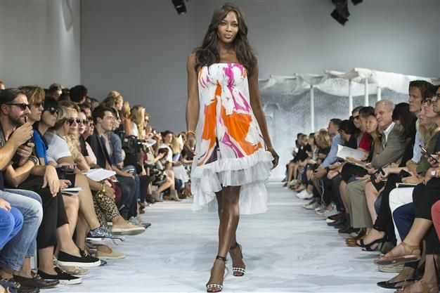 Naomi Campbell walks the runway as the Diane Von Furstenberg Spring 2015 collection is modeled during Fashion Week, Sunday, Sept. 7, 2014, in New York. AP Photo