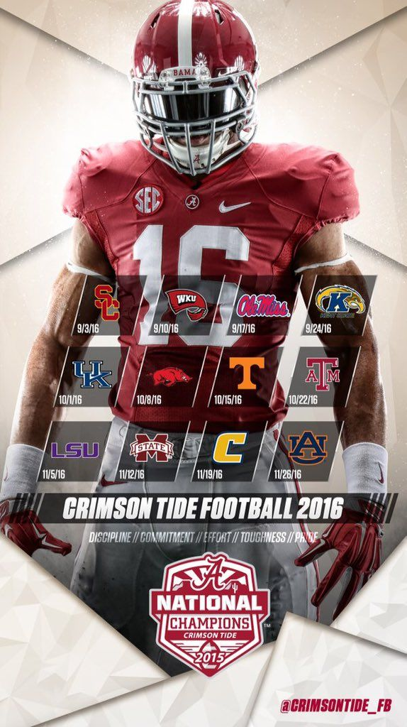 2016 University of Alabama Football Schedule