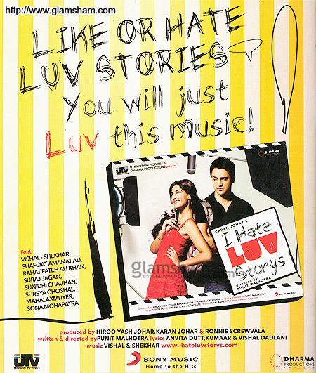 1★ I Hate Luv Stories is modern Bollywood at its most predictable. Boy meets girl, girl hates boy, cue music and viola- love blooms. The modern part is the morals are looser, the music is louder and the clothing are tighter. The main leads have potential but the bad script doesn't let them really show it.  Verdict-There are better films. Skip it. Plot: Jay doesn't believe in love Stories, and Simran, is a girl who's in love with the idea of Love itself. #Bollywood