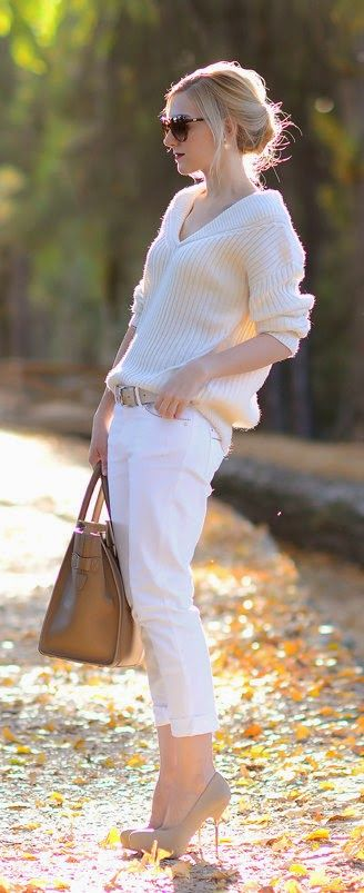 Daily New Fashion : Cream / white - Oh My Vogue